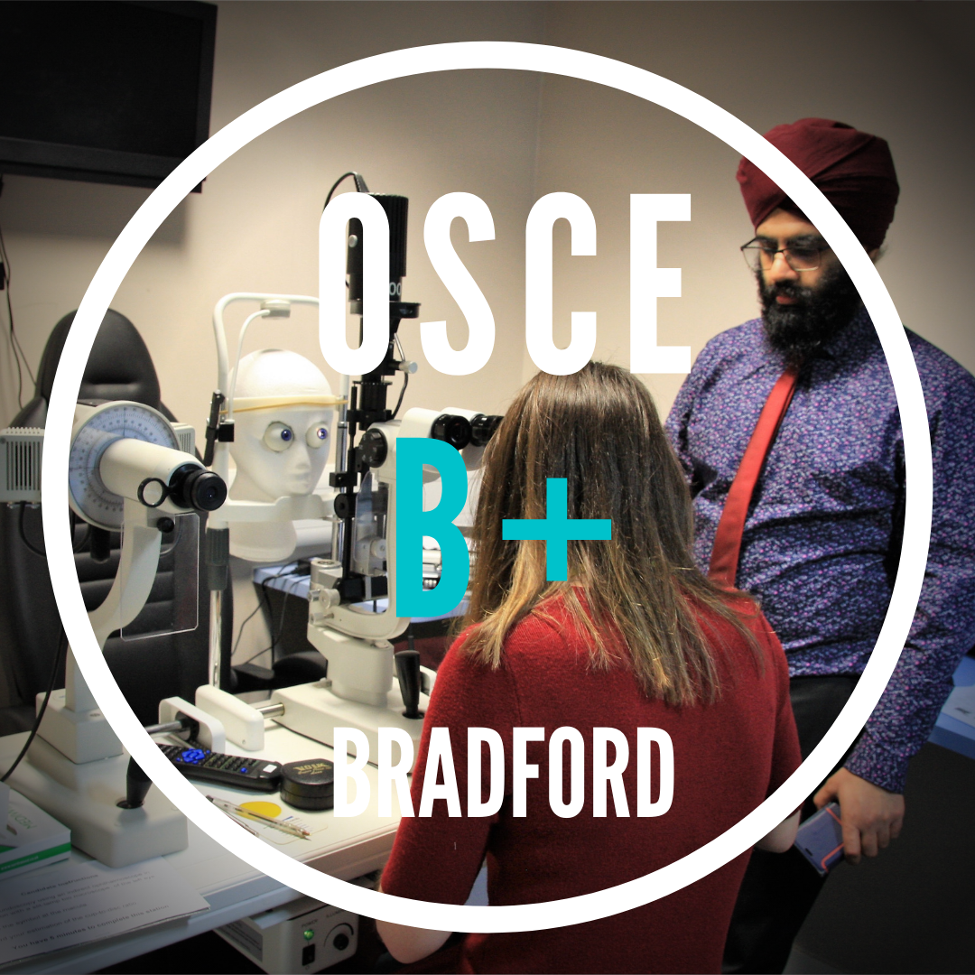 OSCE B+|Bradford|Sun 5 Sep|1.30pm-5pm